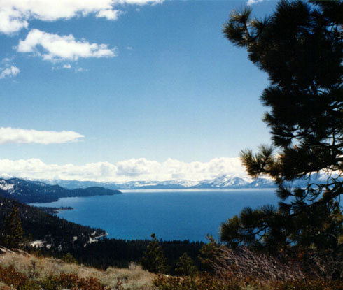 Full view of Lake Tahoe