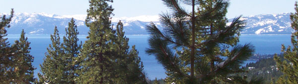 Peek of Lake Tahoe from Mt Rose Hwy